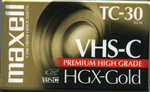 VHS-C HGX-Gold Tape