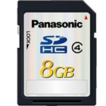 Panasonic SD CARD 8GB 10MB/sec CLASS 4 Economy Package