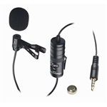 VidPro Wired Lavalier Microphone for Cameras  and Smartphones with 20' Cable