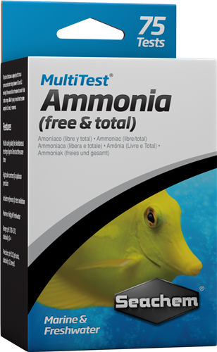 SEACHEM Multitest Ammonia Test Kit, 75 TESTS