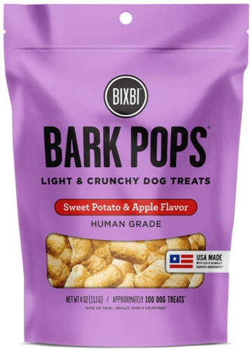 BIXBI DOG POPS SWEET POTATO & APPLE 4 OZ