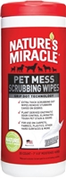 NATURE'S MIRACLE PET MESS SCRUB WIPES  30 count