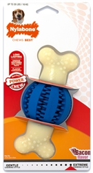 Nylabone Gentle Chew Double Action Ball up to 35lbs