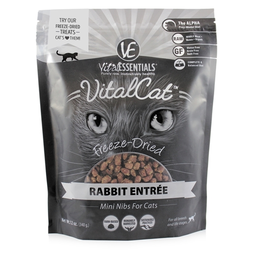 Rabbit Freeze-Dried Mini Nibs Entree | Vital Essentials
