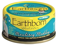 Earthborn Holistic  Monterey Medley  Skipjack Tuna and Grilled Mackerel Dinner for Cats 24-3oz cans