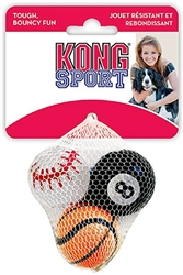 KONG Squeakair Sports Ball Small 3 pack  Toy for Dogs