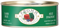 FROMM Four-Star Lamb Pate Cat Food  12-5.5 OZ Can Case