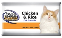 Nutrisource Chicken and Rice Cat Formula 5.5 OZ - 12 Per Case