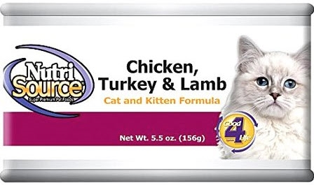 Nutrisource  Chicken, Turkey & Lamb Cat Formula 5.5 OZ - 12 Per Case