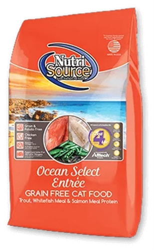 Nutri-Source Grain Ocean Select Entrée Dry Cat Food 2.2 lbs
