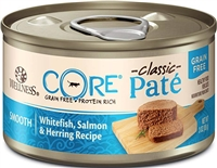 Wellness CORE Whitefish, Salmon & Herring Recipe  12- 3 oz