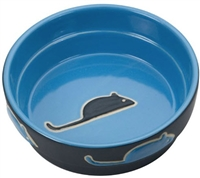 Ethical Fresco Cat Dish Blue 5 inch