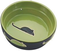 Ethical Pet Fresco Cat Dish Green 5 inch