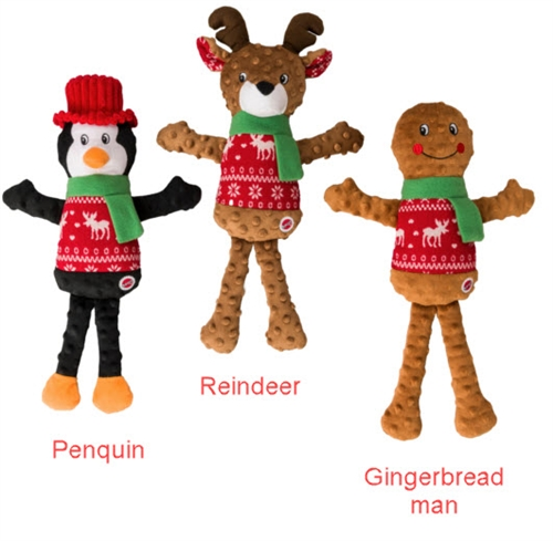 Ethical Holiday Sweater Plush Toy Gingerbread Man 18""