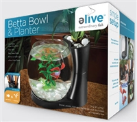 Elive Black Betta Bowl & Planter 0.75 gallons