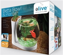 Elive White Betta Bowl & Planter 0.75 gallons
