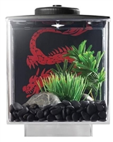 ELIVE Betta Cube with Led Light Black, 0.75 gallon