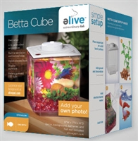 Elive Betta clear acrylic cube with LED Light 0.75 gallon