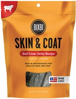 BIXBI SKIN & COAT JERKY TREATS - BEEF LIVER, 5 oz