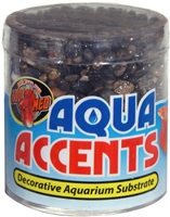 ZooMed Aqua Accents Dark River Pebbles  Sand .5 lb