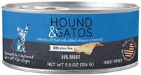 Hound & Gatos  98%  Rabbit for Cats 24- 5.5 oz cans