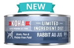 KOHA Pet Food Limited Ingredient Diet – Rabbit Au Jus Cat Food Paté.  24-3 oz case