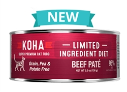 KOHA Pet Food Limited Ingredient Diet – Beef Cat Food Paté  24-3 oz case