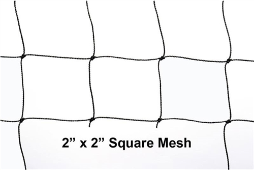 "BirdNet Black 2"" Mesh 50' x 50' Knotted  Bird Net"