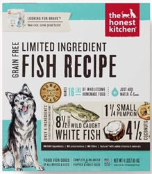 THE HONEST KITCHEN DEHYDRATED  LIMITED INGREDIENT FISH RECIPE BRAVE 4 lbs.