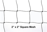 "BirdNet Black 2"" Mesh 25' x 25' Knotted  Bird Net"