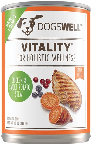 DOGSWELL Vitality Chicken and Sweet Potato Stew for Dogs 12-13 oz