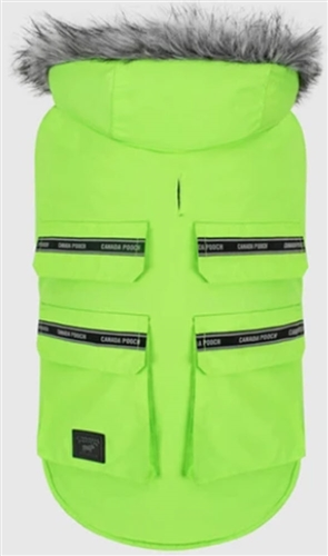 CANADA POOCH Everest Explorer Jacket Neon Green  SIZE 10