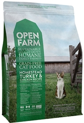 Open Farm Homestead Turkey & Chicken Recipe Grain-Free Cat Food 4 LB