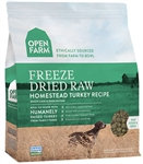 Open Farm Homestead Turkey Recipe - Freeze Dried Raw Grain Free Dog Food 13.5 oz