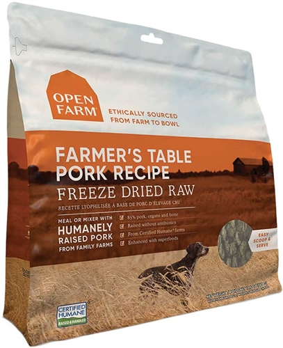OPEN FARM Farmer's Table Pork Freeze Dried Raw Dog Food 13.5 oz