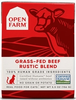 Open Farm Homestead Grass-Fed Beef Rustic Blend for Cats 12-5.5 OZ