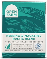 Open Farm Homestead Herring & Mackerel Rustic Blend for Cats 12-5.5 OZ