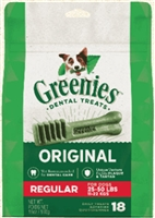 Greenies Original Regular Dog Dental Chews - 18 Ounces 18Treats