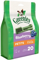 Greenies Blueberry Teenie Dog Dental Chews - 12 Ounces 20 Treats