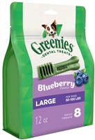 Greenies Blueberry Teenie Dog Dental Chews - 12 Ounces 8 Treats