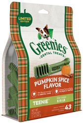 "GREENIESâ""¢ Pumpkin Spice Flavor TEENIEâ""¢ Size Dog Dental Treats"