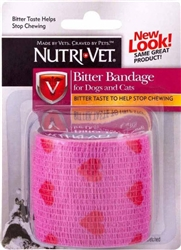 Nutri-Vet  Bitter Bandage for Pets Pink Hearts Color