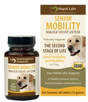 Wapiti Labs Senior Mobility for dogs 60 count tablets