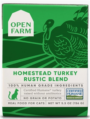 Open Farm Homestead Turkey Rustic Blend for Cats 12-5.5 OZ