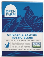Open Farm Homestead Chicken & Salmon Rustic Blend for Cats 12-5.5 OZ