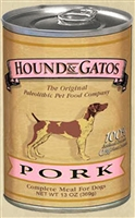 Hound & Gatos 98% Pork & Pork Liver Wet Dog Food 12-13 oz