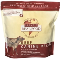 Steve's Real Food Freeze Dried Beef Diet for dogs 1.25 lbs