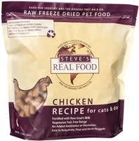 Steve's Real Food Freeze Dried Chicken Diet for dogs and cats 1.25 lbs