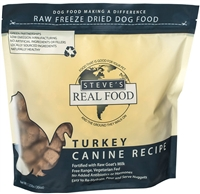 Steve's Real Food Freeze Dried Turkey Diet for dogs and cats 1.25 lbs