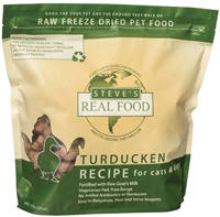 Steve's Real Food Freeze Dried TURDUCKEN Diet for dogs and cats 1.25 lbs